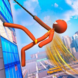Grand Stickman Rope Hero Crime City