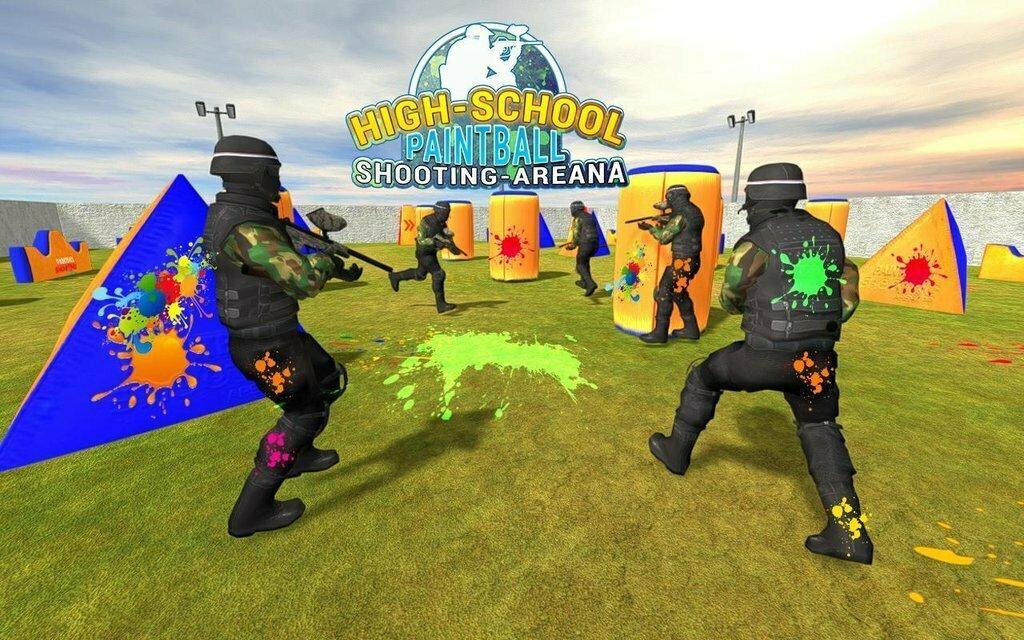 High School Paintball Shooting Arena: FPS Game