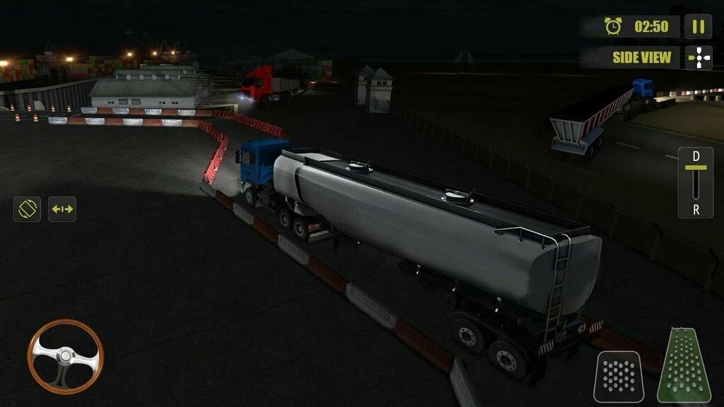 Night Truck Parking Driver 3D