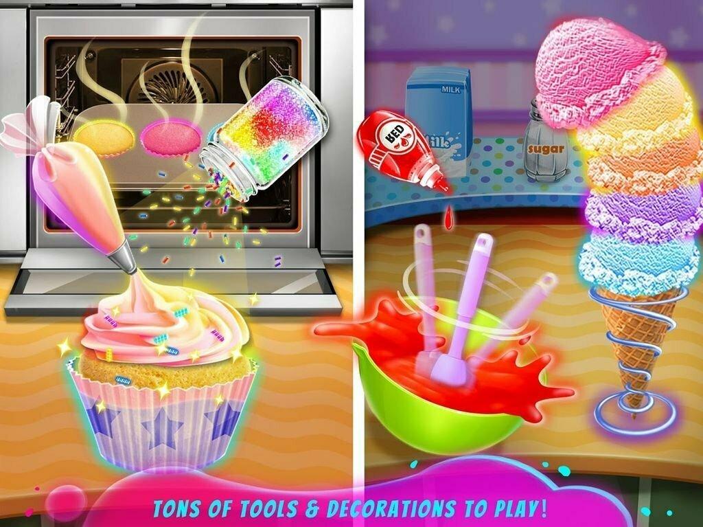 Rainbow Ice Cream: Unicorn Party Food Maker