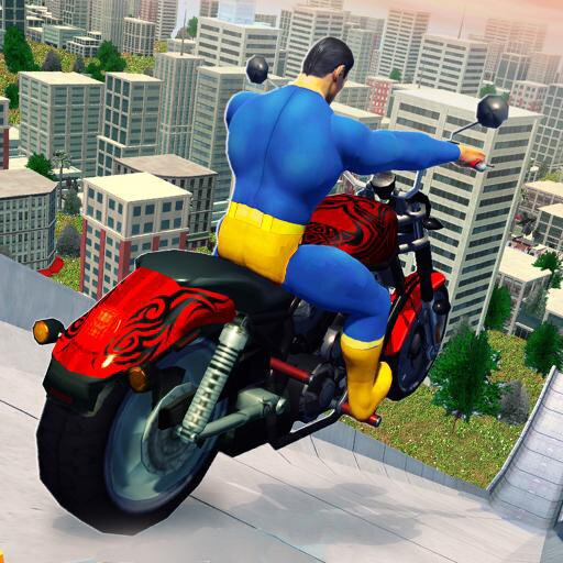 Super Hero Bike Mega Ramp – Racing Simulator